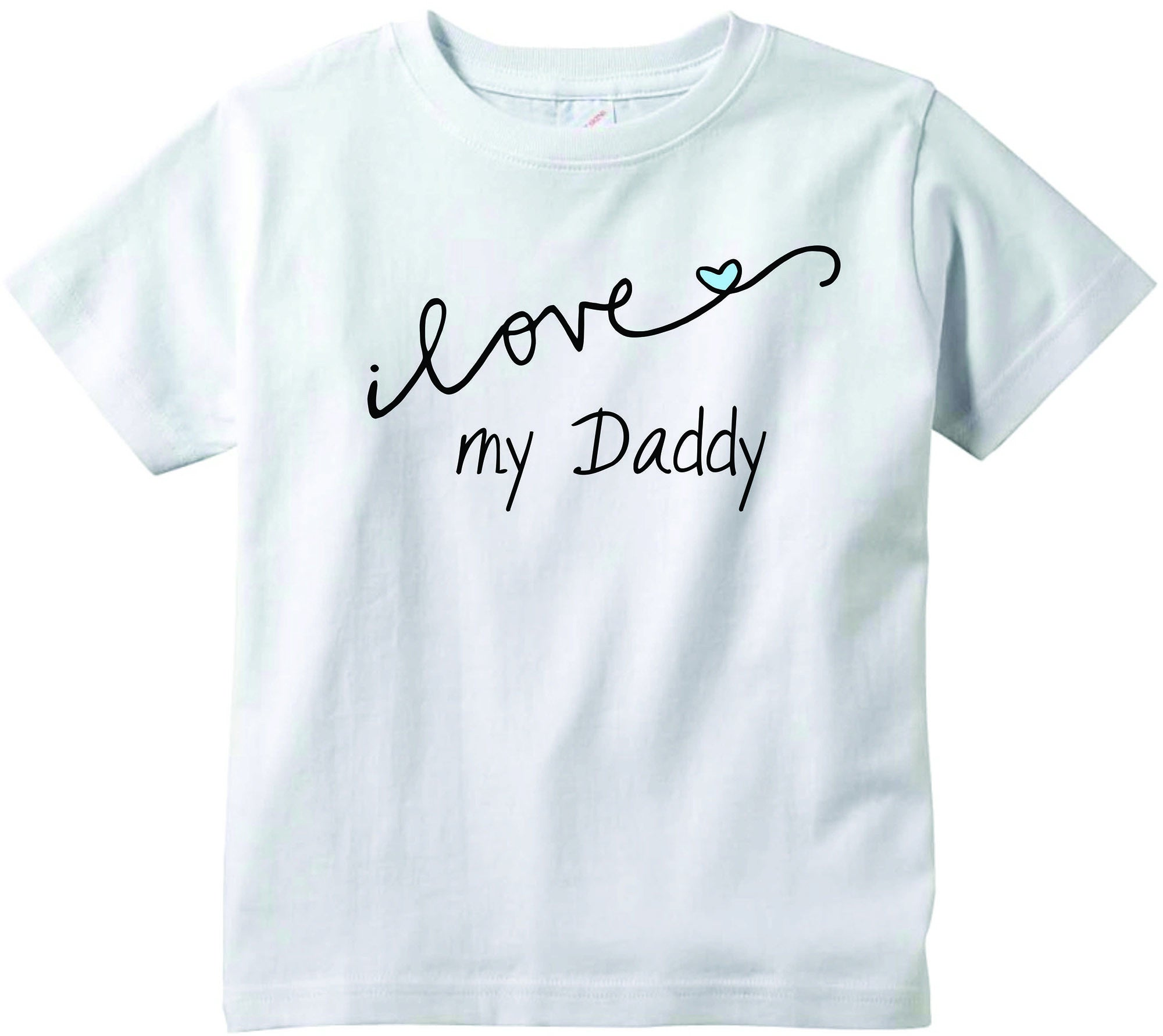Baby boys I love my Daddy CURSIVE cute funny baby clothes tee shirt