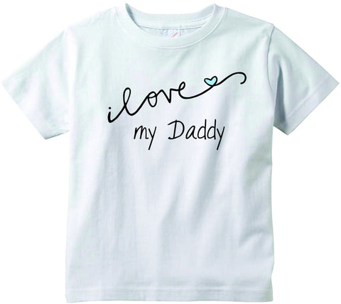 Baby boys I love my Daddy CURSIVE cute funny baby clothes tee shirt infant clothing