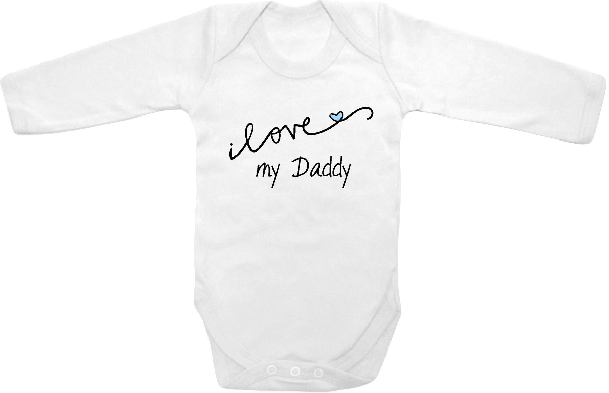 Cursive I love my Daddy cute infant clothing funny baby clothes one
