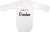 I love my Grandma cute infant clothing funny baby clothes one piece bodysuit romper creeper