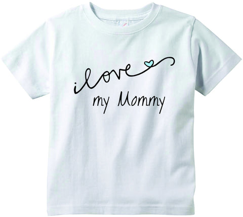 Baby boys I love my Mommy CURSIVE cute infant clothing funny baby clothes tee shirt
