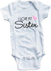 I love my Sister cute infant clothing funny baby clothes one piece bodysuit romper creeper