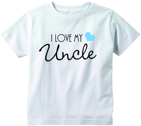 Baby boys I love my Uncle cute infant clothing funny baby clothes tee shirt