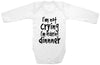 "Adorable Baby Tee Time ""I'm Not Crying I'm Ordering Dinner"" Onesie"