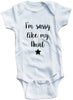 "Funny Adorable Baby Tee Time ""I'm Sassy Like My Aunt"" Baby Onesie"