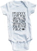 "Adorable Baby Tee Time ""I'm Sorry I Bit You And Pulled Your Hair And Punched You In The Face"" Funny Onesie"