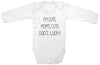 "Adorable Funny Baby Tee Time ""I'm Cute, Mom's Cute, Dad's...Lucky"" Onesie"