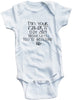 "Funny Adorable Baby Tee Time ""I'm your father's day gift mom says you're welcome"" Baby Onesie"
