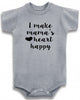 "Adorable Baby Tee Time ""I Make Mama's Heart Happy"" Baby Onesie"