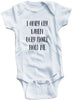 "Adorable Funny Baby Tee Time ""I Only Cry When Ugly People Hold Me"" Onesie"