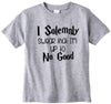 I solemny swear that I'm up to no good cute infant clothing funny baby clothes tee shirt