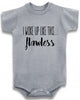 "Funny Adorable Baby Tee Time ""I woke up like this...flawless"" Onesie"