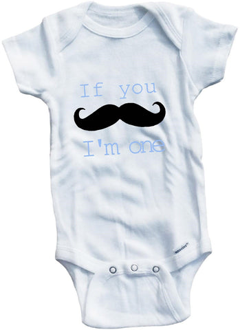 If you mustache I'm one cute infant clothing funny baby clothes bodysuit one piece romper creeper