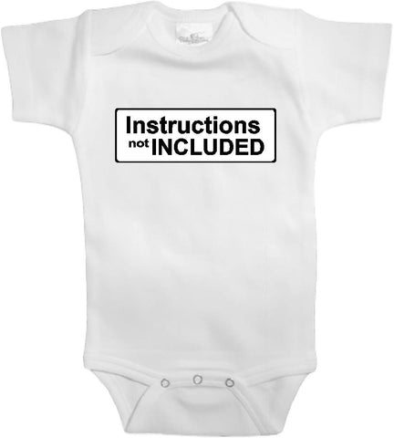 Adorable Baby Tee Time Instructions not included Funny Onesie