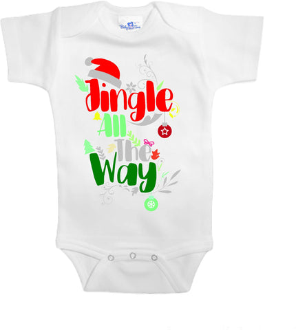 Adorable Baby Tee Time Jingle all the way popular Baby Onesie