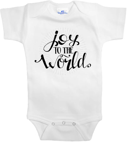 Adorable Baby Tee Time Joy to the world popular Baby Onesie