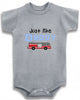 Just like daddy firetruck firefighter cute infant clothing funny baby clothes bodysuit one piece romper creeper