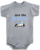 Just like daddy police car cute infant clothing funny baby clothes bodysuit one piece romper creeper