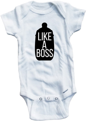 Funny Adorable Baby Tee Time Like a Boss Baby Onesie