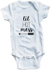 "Funny Adorable Baby Tee Time ""Lil hot mess"" Baby Onesie"