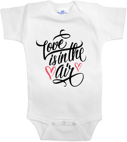 Adorable Baby Tee Time Love is in the air popular Baby Onesie