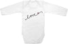 Love with heart cute infant clothing funny baby clothes one piece bodysuit romper creeper
