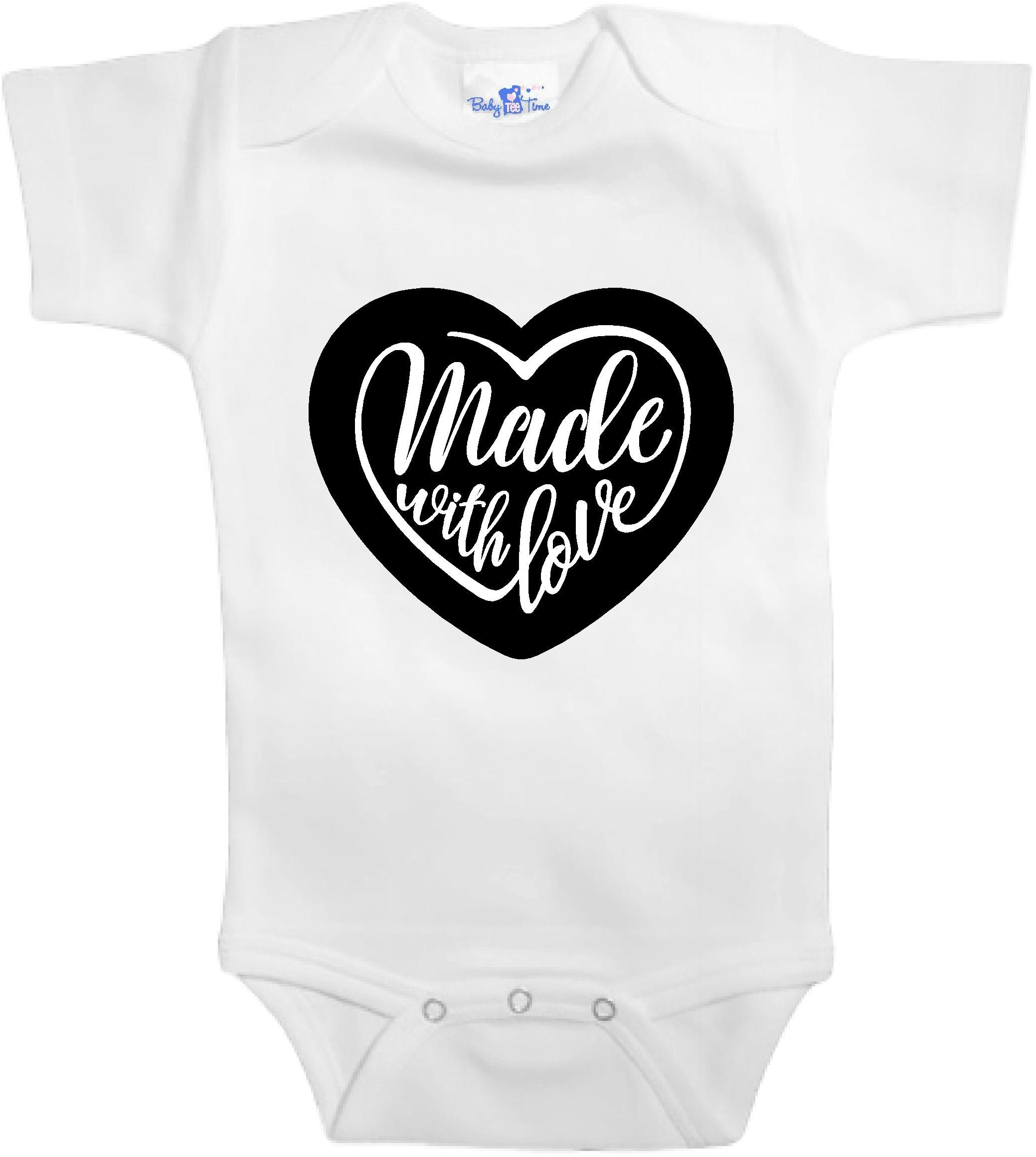 517e88a59bd Adorable Baby Tee Time Made with love popular Baby Onesie