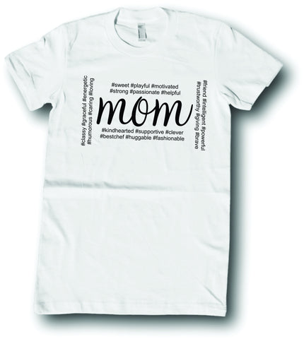 Womens American Apparel MOM hashtags cute funny tee shirt clothes clothing