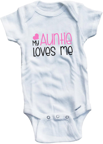 My Auntie loves me cute infant clothing funny baby clothes bodysuit one piece romper creeper