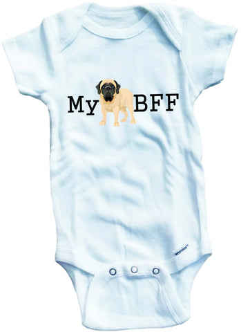 My bff bestfriend forever MASTIFF dog cute infant clothing funny baby clothes bodysuit one piece romper creeper