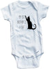 "Funny Adorable Baby Tee Time ""My Big Brother Is A Cat"" Onesie"