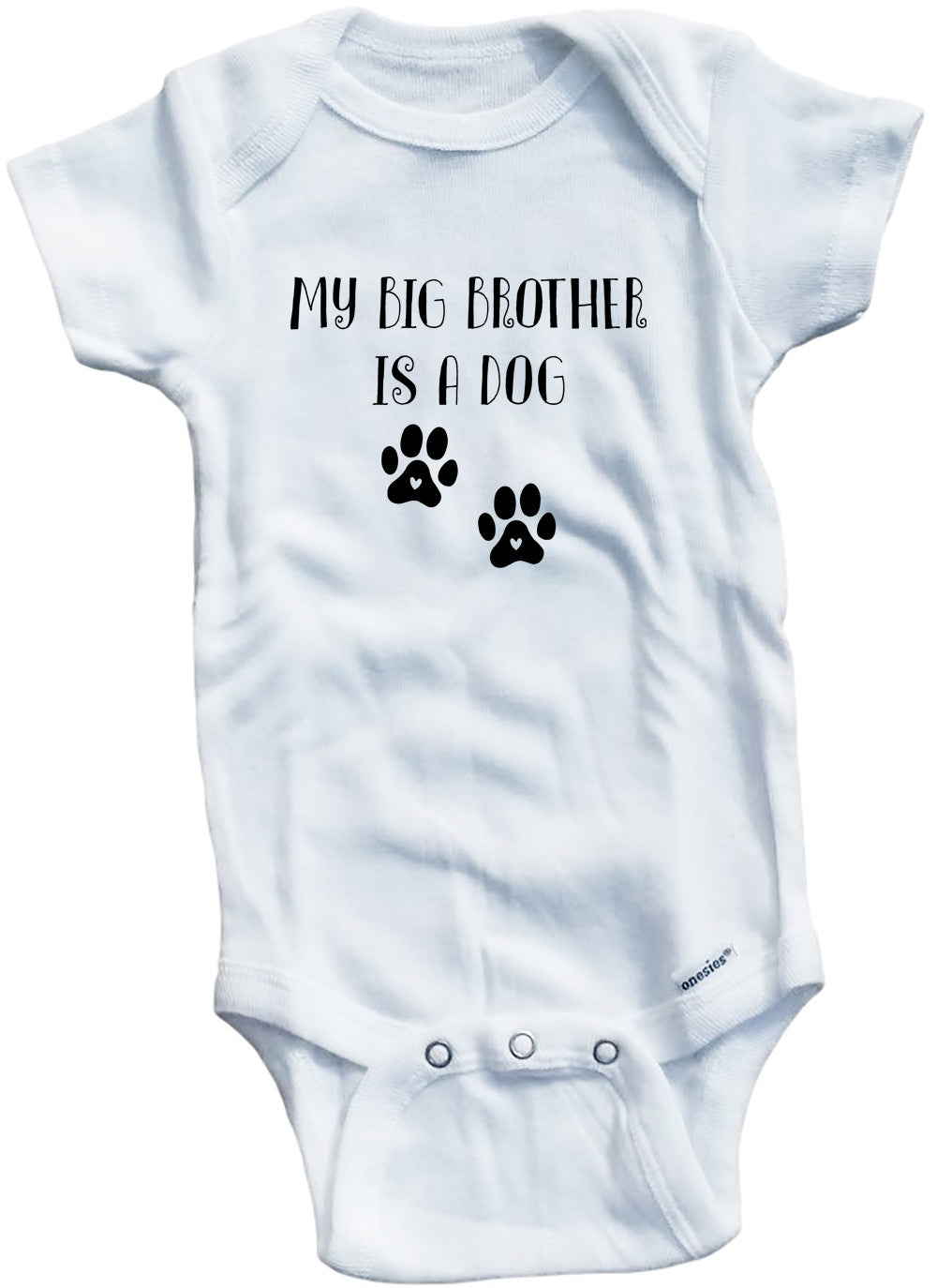 Funny Cute Adorable Dog Pet My Big Brother Barks Babygrow