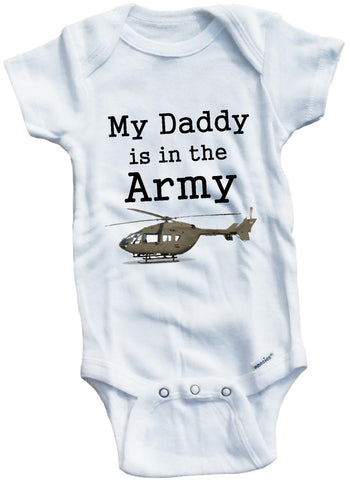 My daddy is in the ARMY cute military soldier helicopter tank cute infant clothingfunny baby clothes bodysuit one piece romper creeper