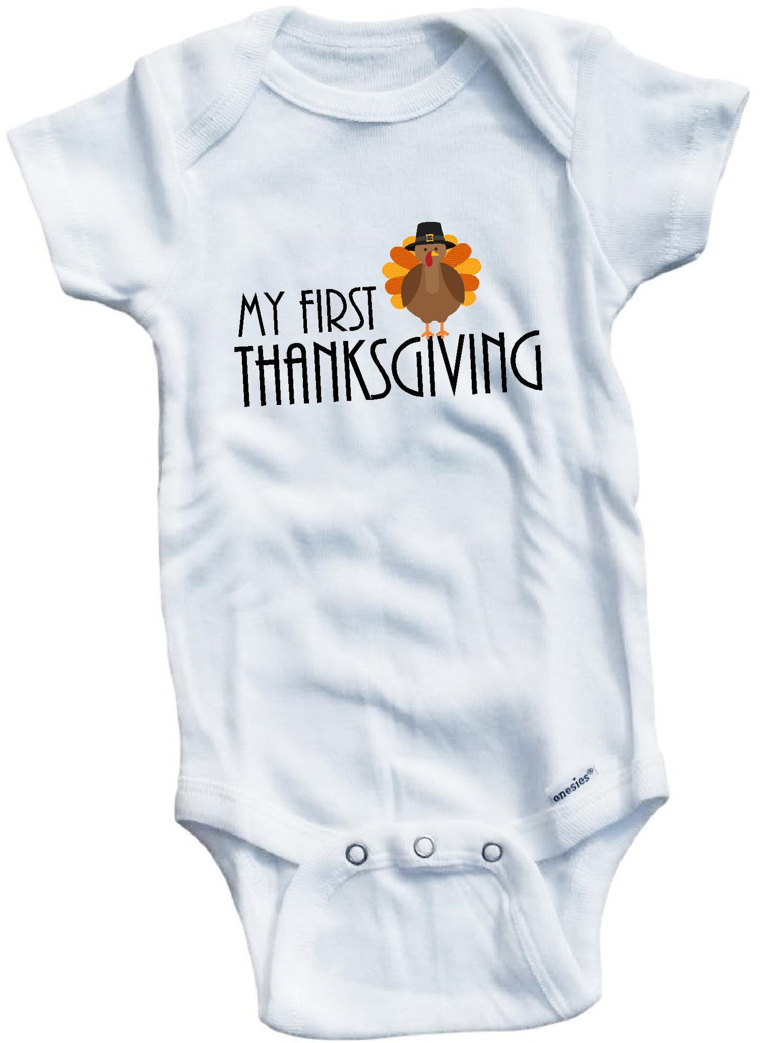 My First Thanksgiving Cute Infant Clothing Funny Baby Clothes