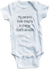 Funny Adorable Baby Tee Time My Parents Think They're In Charge. That's So Cute Baby Onesie