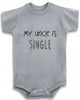My uncle is single cute infant clothing funny baby clothes bodysuit one piece romper creeper