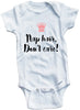 Adorable Baby Tee Time Nap Hair, Don't Care! Baby Onesie