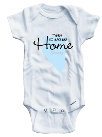 Baby boys' There's no place like home States N-Z background infant clothes