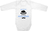 Perfect gentleman hat cute infant clothing funny baby clothes bodysuit one piece romper creepe