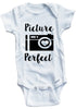 "Adorable Baby Tee Time ""Picture Perfect"" Baby Onesie"