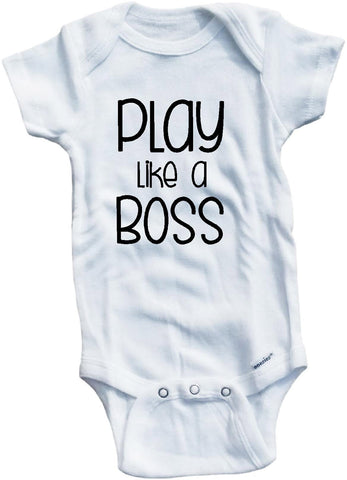 Play like a boss cute infant clothing funny baby clothes bodysuit one piece romper creepe