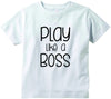 Play like a BOSS cute infant clothing funny baby clothes tee shirt
