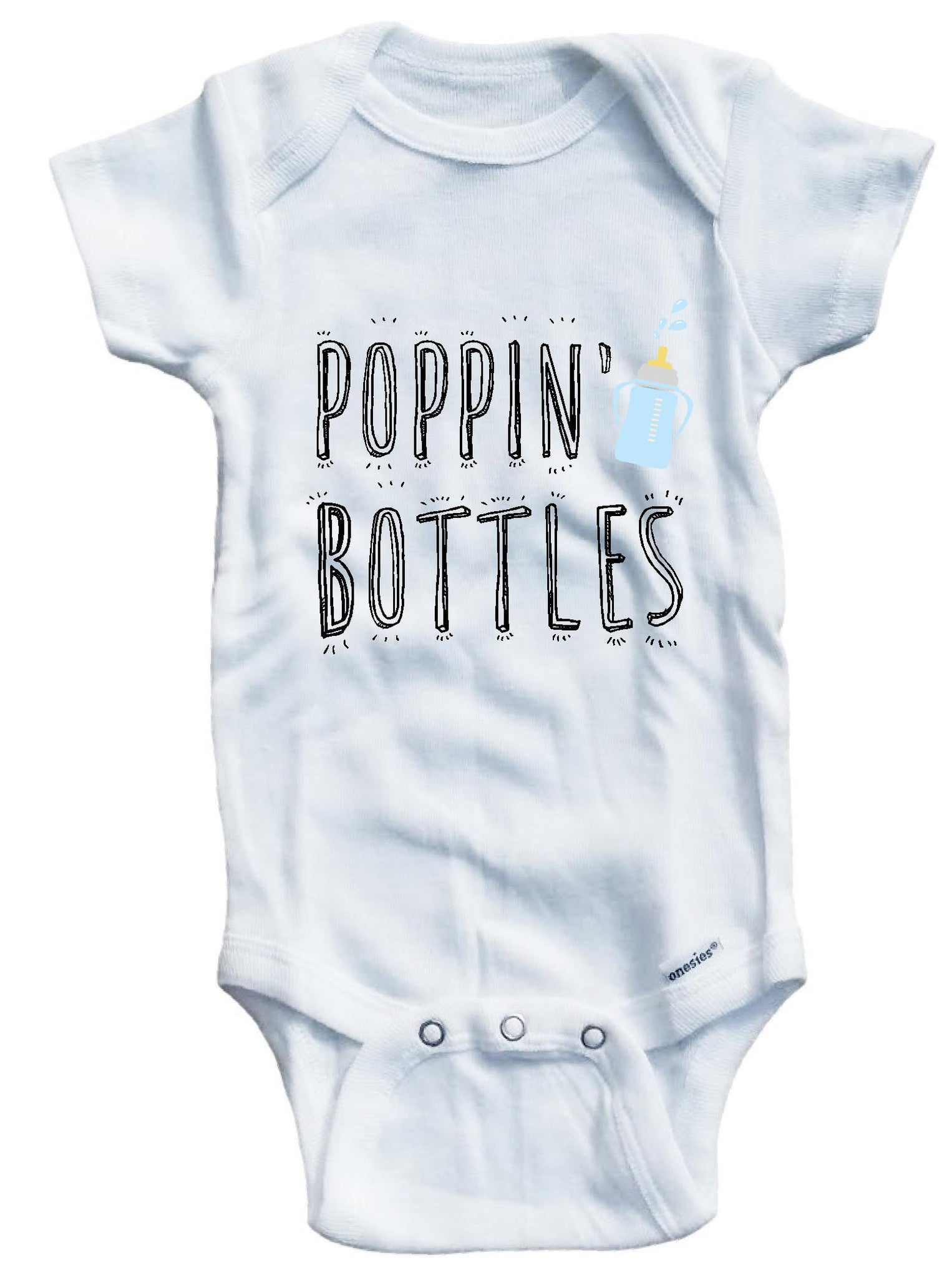 Poppin bottles cute funny baby clothes bodysuit one piece onesie