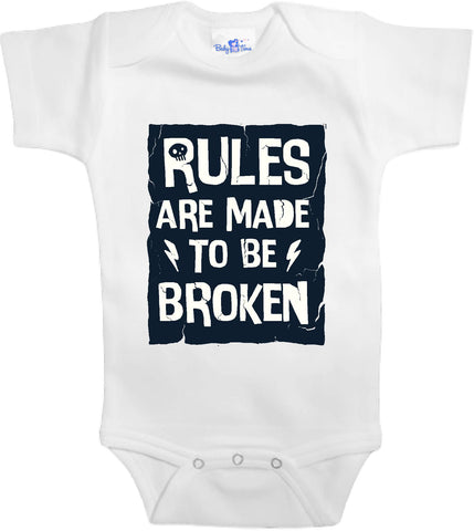 Adorable Baby Tee Time Rules are made to be broken popular Baby Onesie