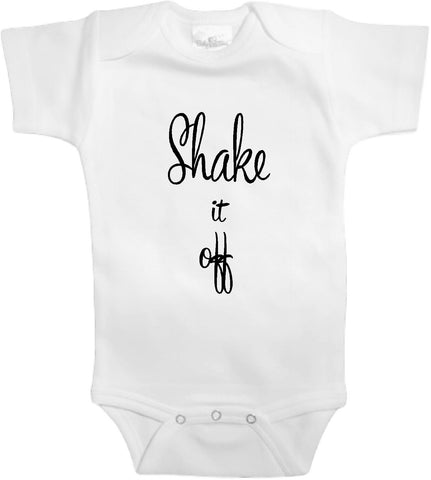 Adorable Baby Tee Time Shake it off Funny Onesie