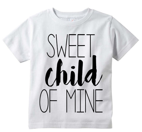 "Cute Adorable ""Sweet Child Of Mine"" Baby Tee Shirt"