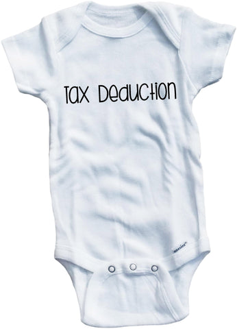 Tax deduction cute infant clothing funny baby clothes bodysuit one piece romper creeper