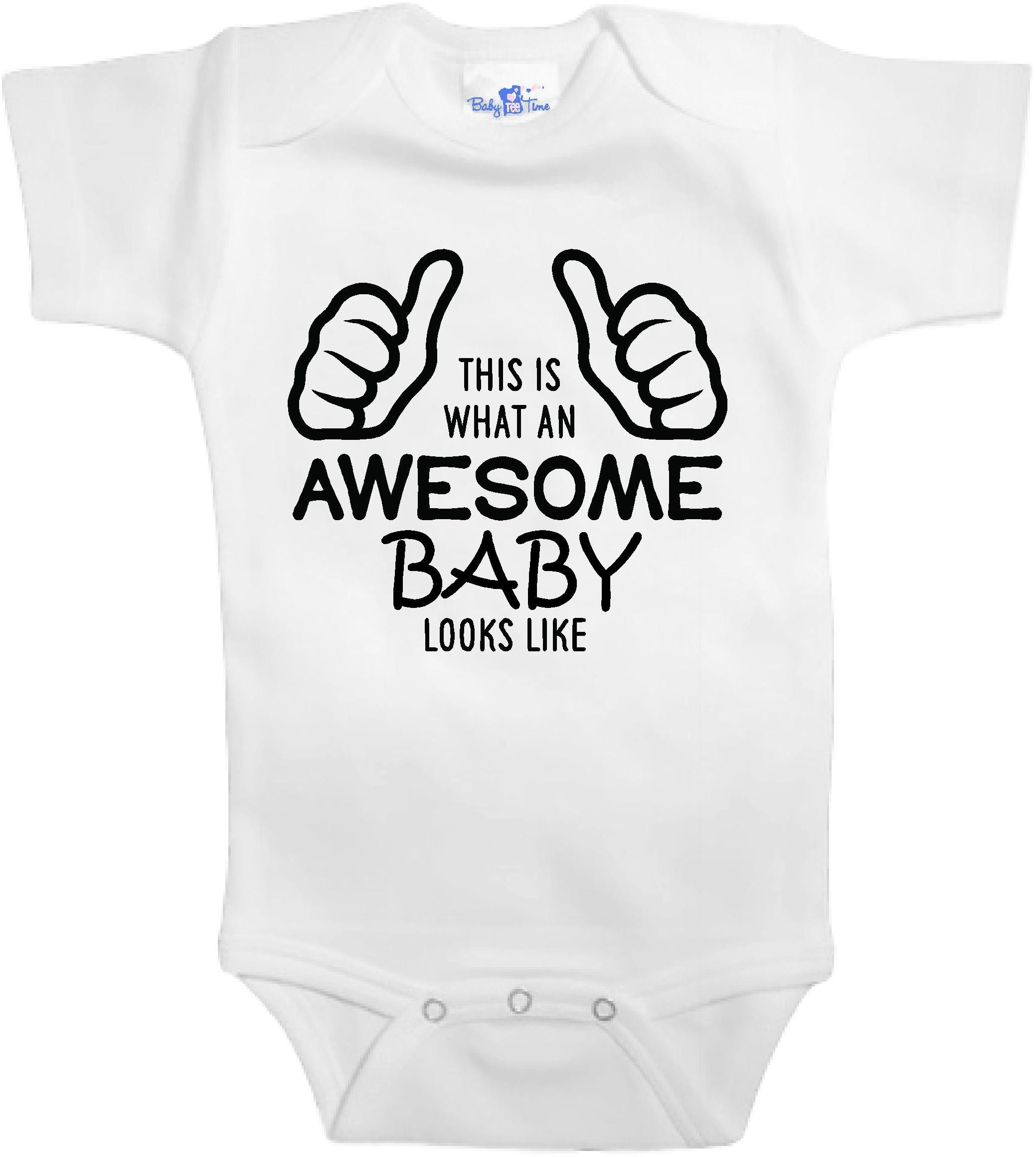 fa9f1e6e1ff1 Adorable Baby Tee Time This is what an awesome baby looks like popular