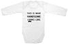 "Adorable Baby Tee Time ""This is what handsome looks like"" Baby clothes"