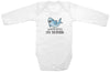 "Adorable Funny Baby Tee Time ""Warning I'm Teething"" Onesie"